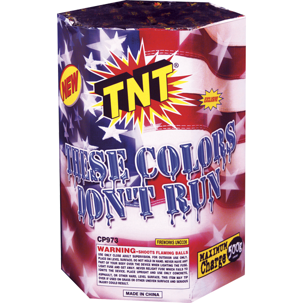 500 Gram Firework Fountain These Colors Don't Run