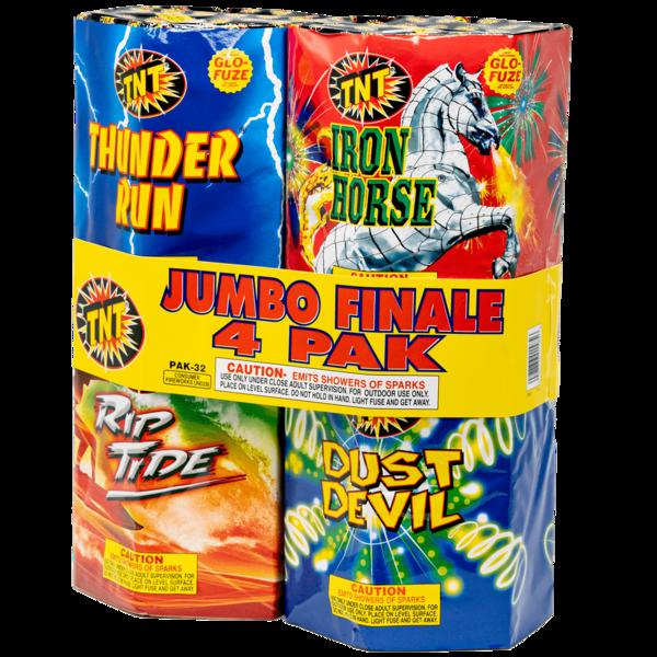 Firework Fountain Jumbo Finale 4 Pack