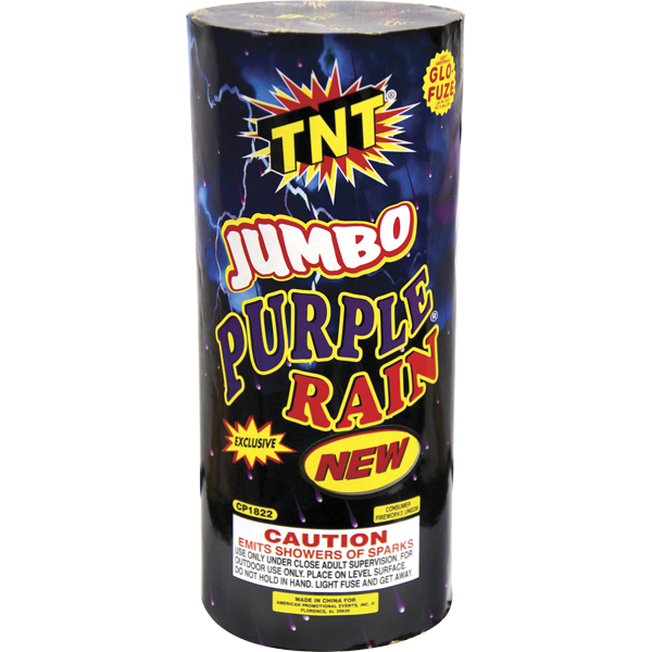 Firework Fountain Jumbo Purple Rain