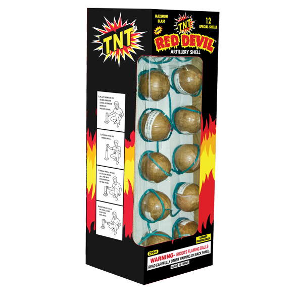 Firework Reloadable 12 Shot Red Devil