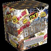 Firework Aerial Finale Red White &  Bling    Thumbnail 1