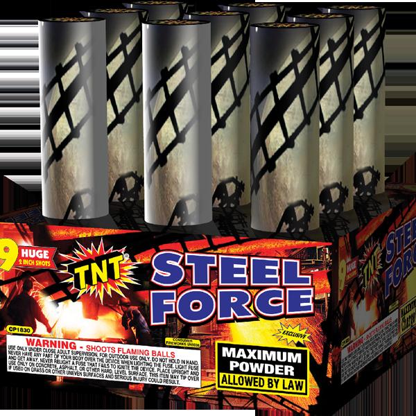 500 Gram Firework Aerial Finale Steel Force
