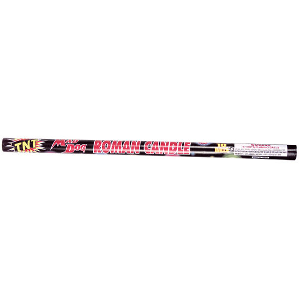 Firework Roman Candle 10 Ball Mad Dog Roman Candle
