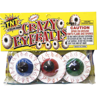 Firework Novelty Sparkler Crazy Eye Balls