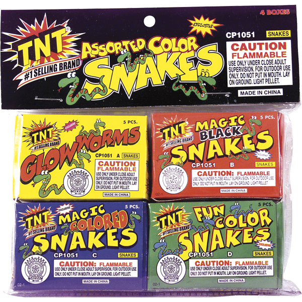 Firework Novelty Sparkler Asst. Color Snake