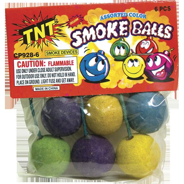 Firework Novelty Sparkler Tnt Smoke Balls Asstd
