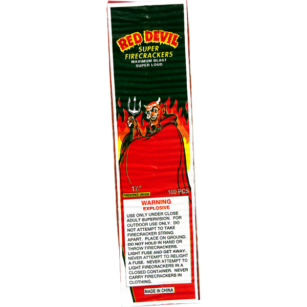 Firework Firecracker Red Devil 100 Strip