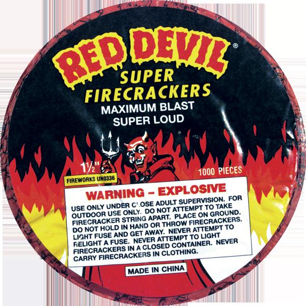 Firework Firecracker Red Devil 1000 Strip