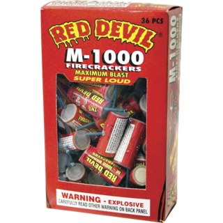 RED DEVIL FIRECRACKER M-1000