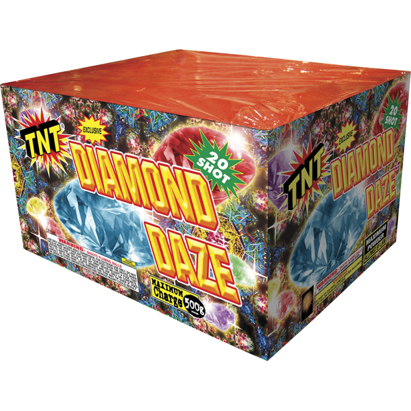 500 Gram Firework Aerial Finale Diamond Daze