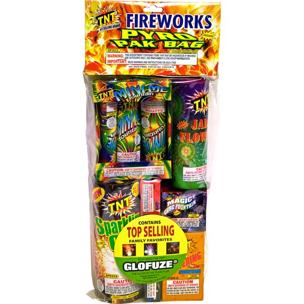 Firework Assortment Pyro Pak Bag
