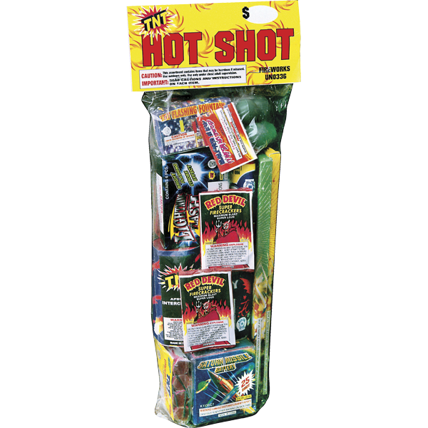 Firework Assortment Hot Shot Polybag