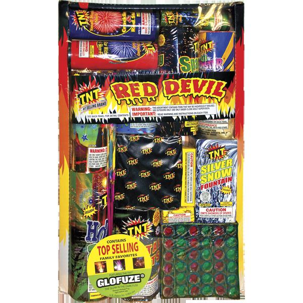 Firework Assortment Red Devil Tray