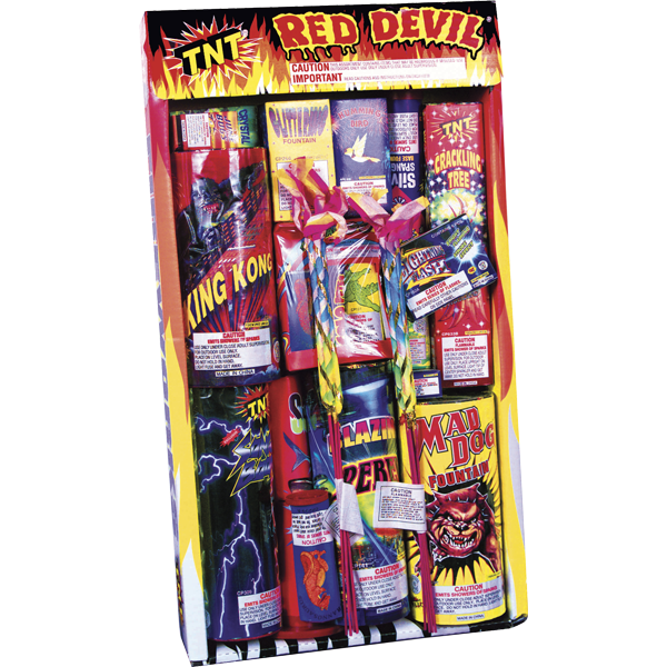 Firework Assortment Red Devil Tray