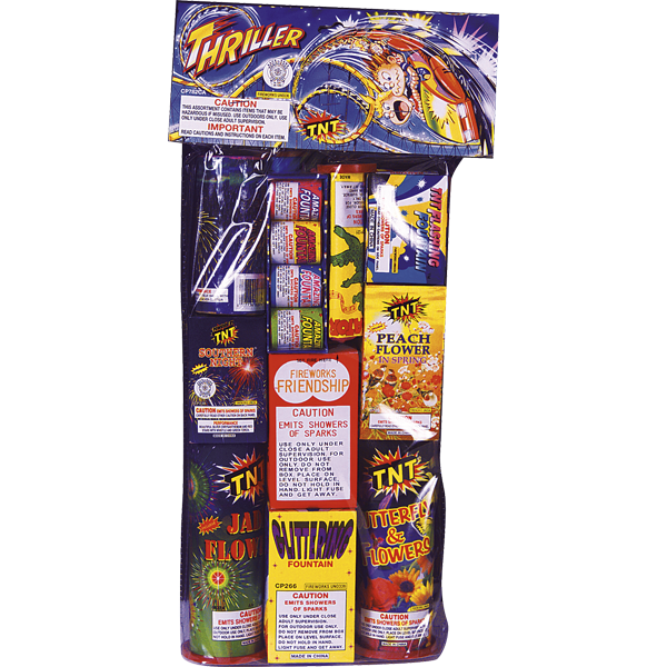 Firework Assortment Thriller Polybag   Safe & Sane