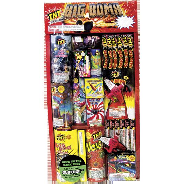 Firework Assortment Big Bomb Tray