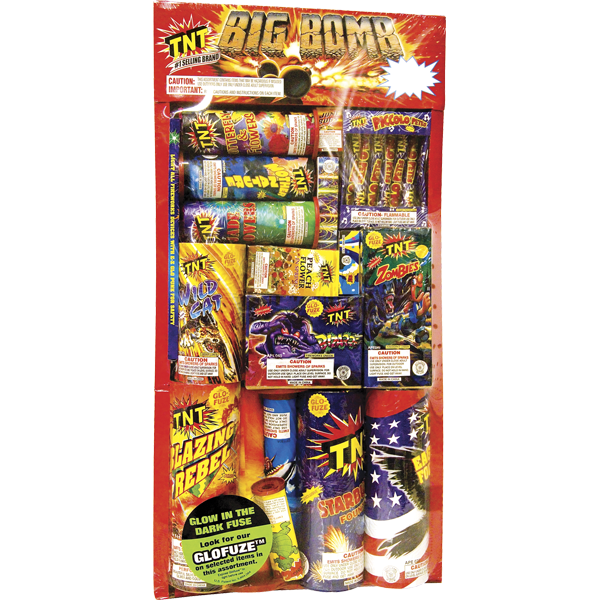 Firework Assortment Big Bomb Tray   Safe & Sane