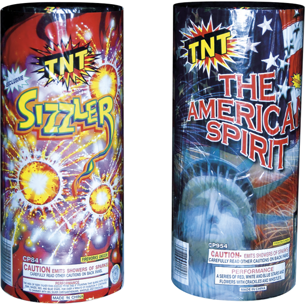 Firework Fountain American Spirit Plus Sizzler