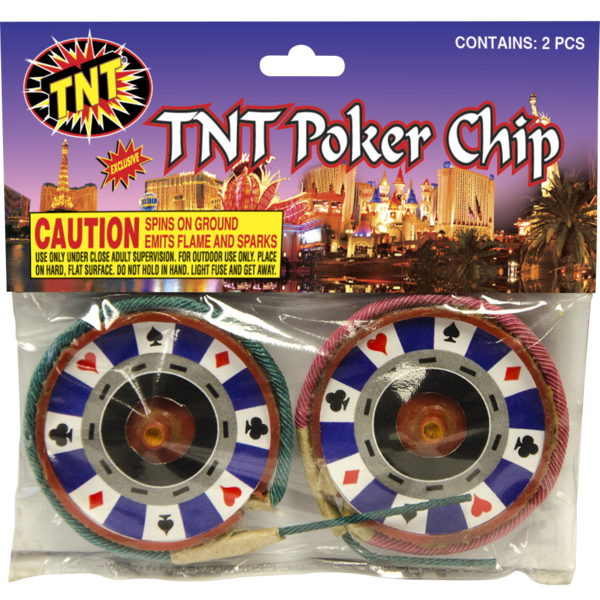 Firework Novelty Sparkler Tnt Poker Chip