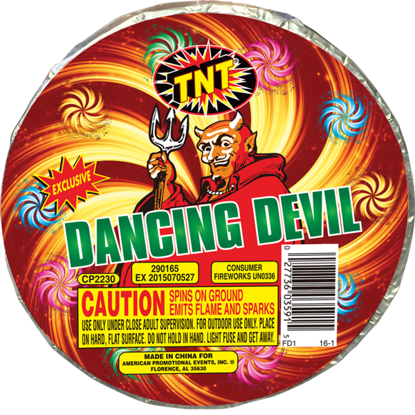 Firework Novelty Sparkler Dancing Devil