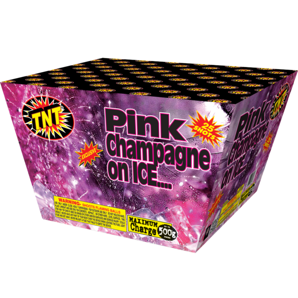 500 Gram Firework Aerial Finale Pink Champagne On Ice