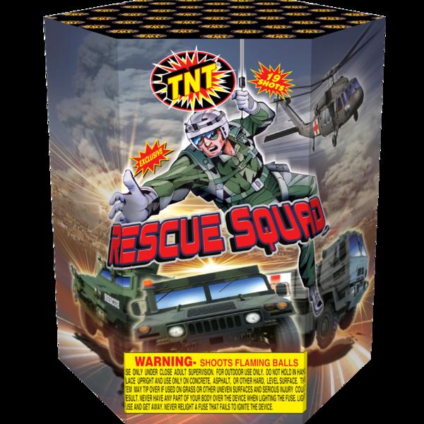Firework Aerial Finale Rescue Squad