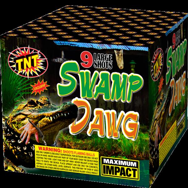 500 Gram Firework Aerial Finale Swamp Dawg