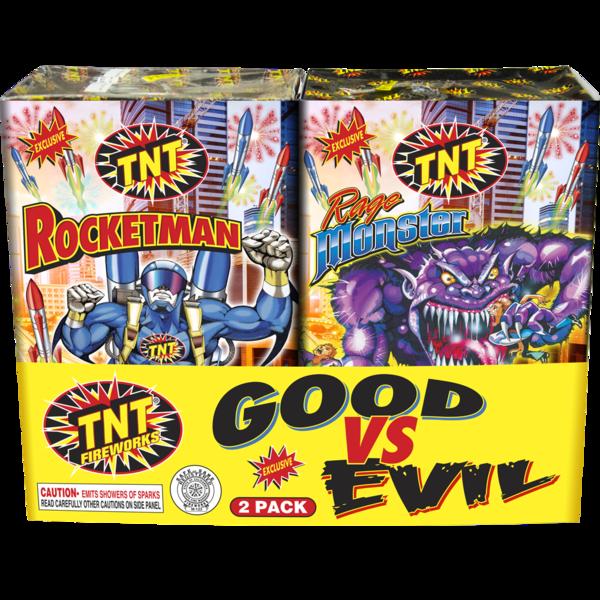 Firework Fountain Good Vs Evil