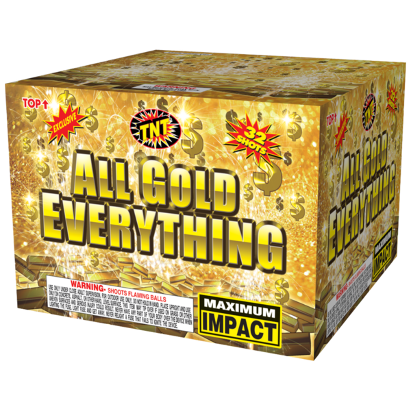 500 Gram Firework Aerial Finale All Gold Everything