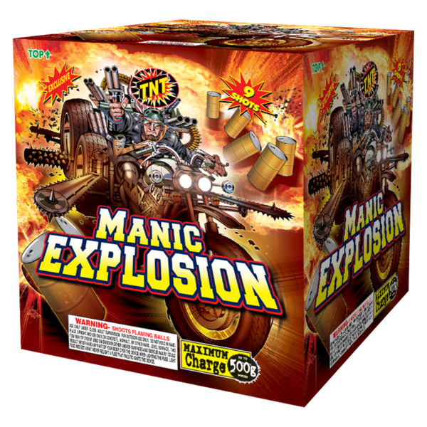 500 Gram Firework Aerial Finale Manic Explosion