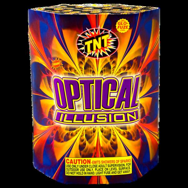 Firework Fountain Optical Illusion