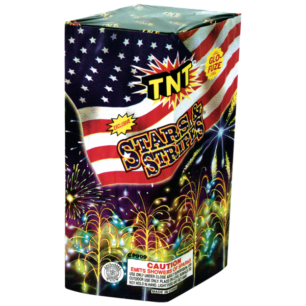Firework Fountain Stars & Stripes