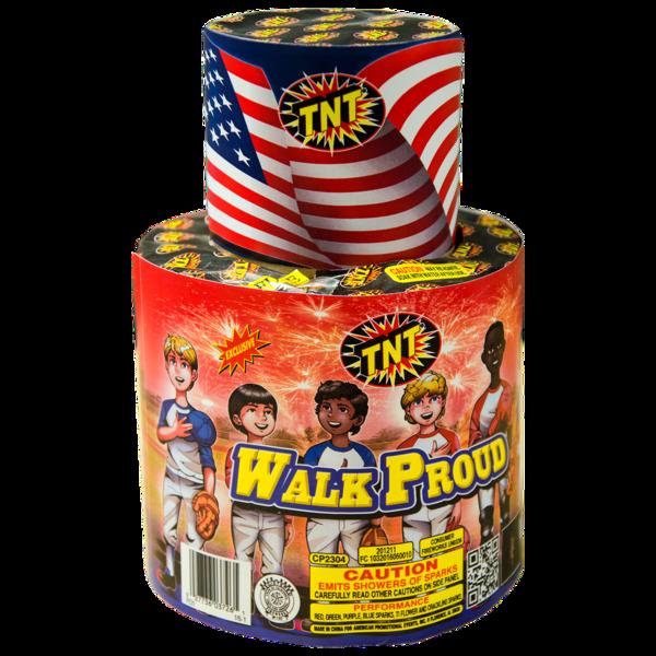 Firework Fountain Walk Proud