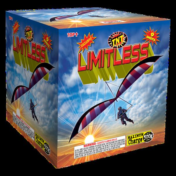 500 Gram Firework Aerial Finale Limitless