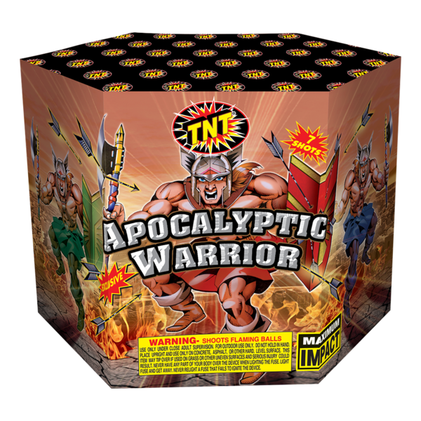 500 Gram Firework Aerial Finale Apocalyptic Warrior