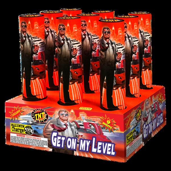 500 Gram Firework Aerial Finale Get On My Level