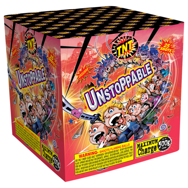 500 Gram Firework Aerial Finale Unstoppable