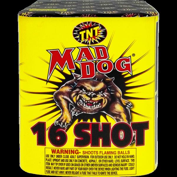 Firework Aerial Finale Mad Dog 16 Shot