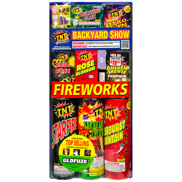 Firework Assortment Backyard Show