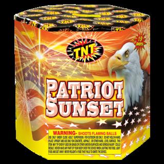 Firework Aerial Finale Patriot Sunset