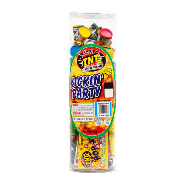 Firework Assortment Kickin' Party Tube