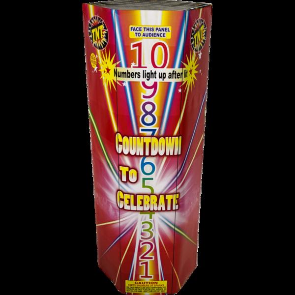 Firework Fountain Countdown To Celebrate
