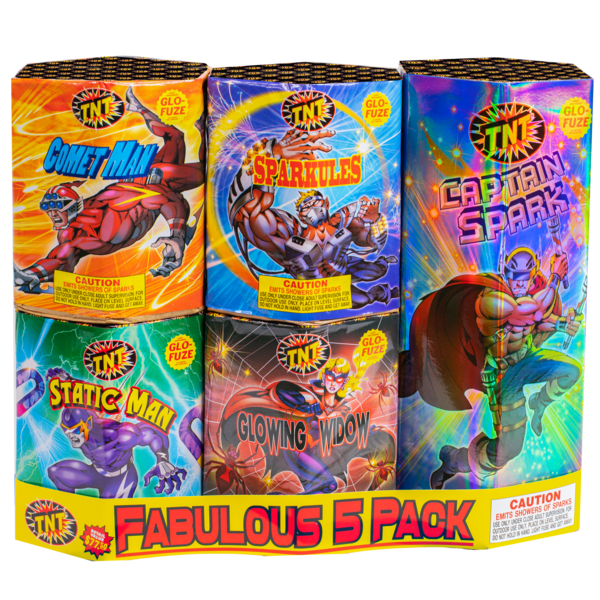 Firework Fountain Fabulous 5 Fountain Pack