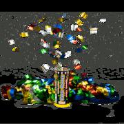 Firework Novelty Sparkler 2pk Spring Loaded Celebration Popper Thumbnail 1