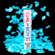 Firework Novelty Sparkler Gender Reveal Blue Confetti Cannon Thumbnail 1