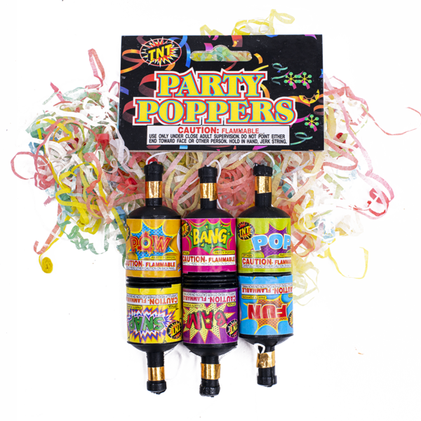 Firework Novelty Sparkler Party Poppers 6 Pk 4 Pdqs J14