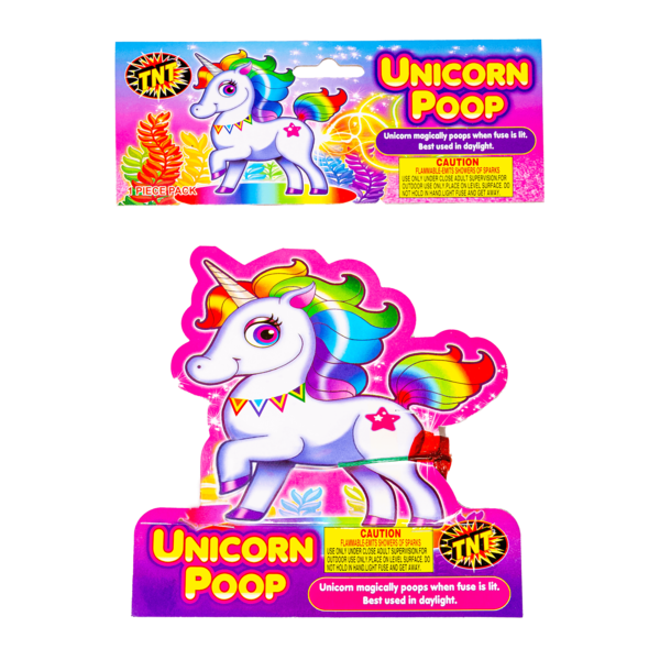 Firework Novelty Sparkler Unicorn Poop