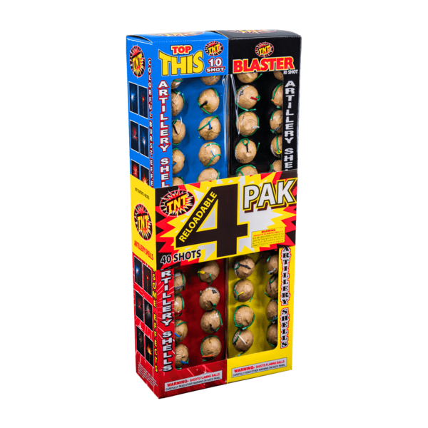 Firework Reloadable 4 Pak Reloadable 10 Shot