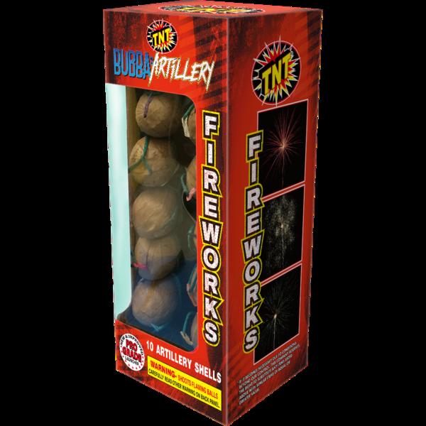 Firework Reloadable Bubba's Artillery 10 Shot Yp