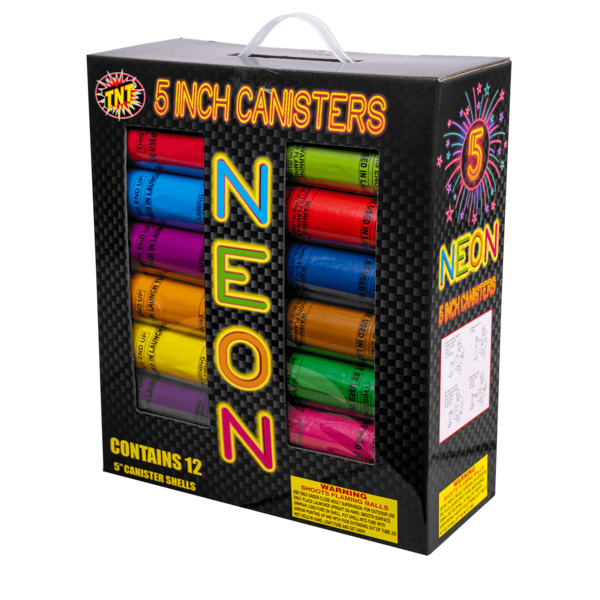 "Firework Reloadable Tnt 5"" Neon Canister"